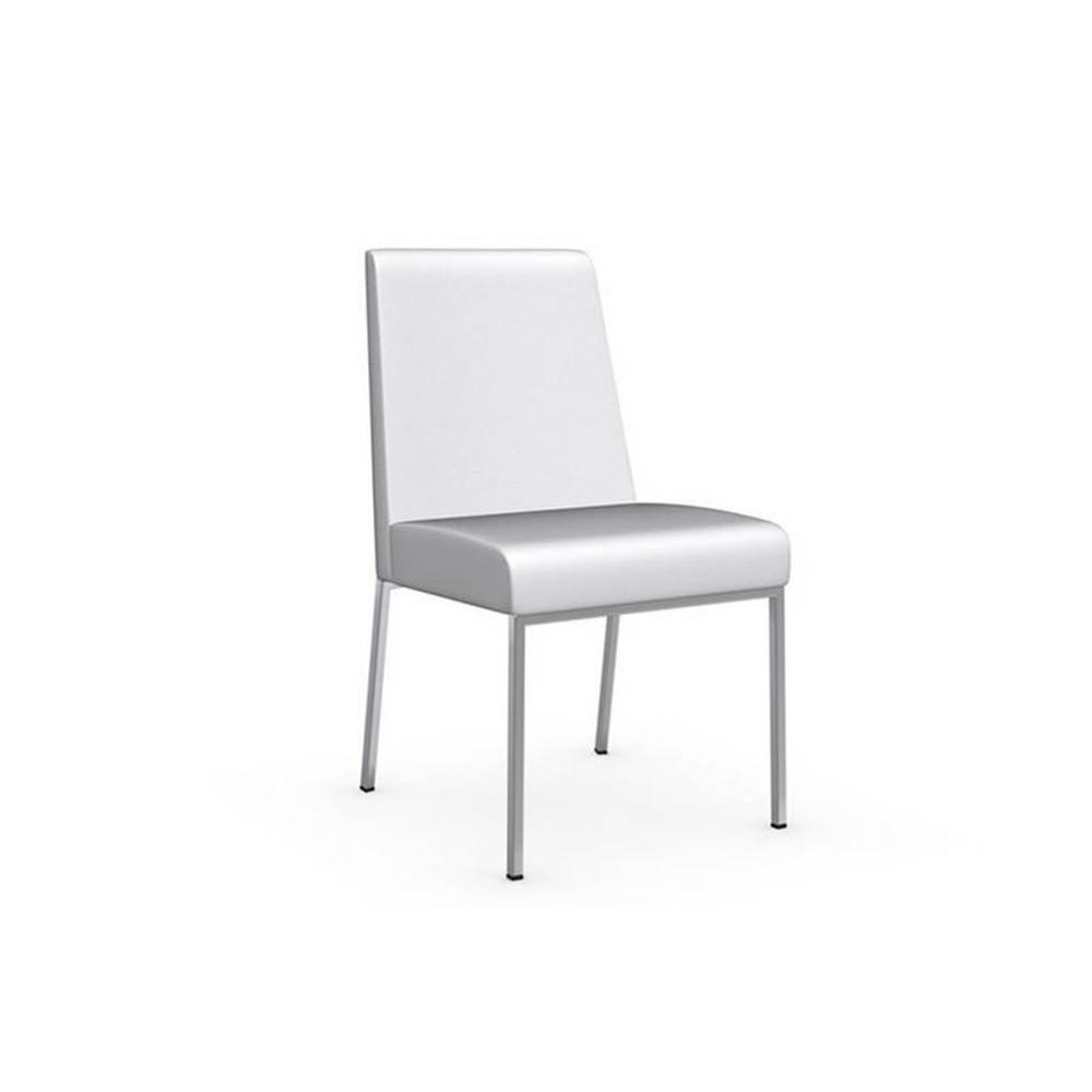 Chaises tables et chaises calligaris chaise amsterdam for Chaise cuir blanc