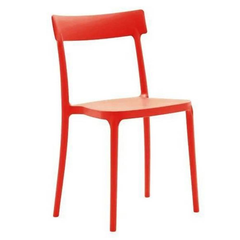 chaises tables et chaises calligaris chaise empilable argo rouge inside75. Black Bedroom Furniture Sets. Home Design Ideas