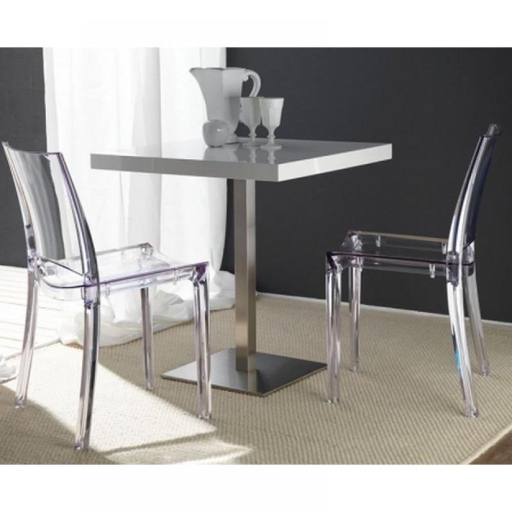 Lot de 2 chaises design b cristal empilables en plexiglass transparent ebay - Chaises empilables design ...