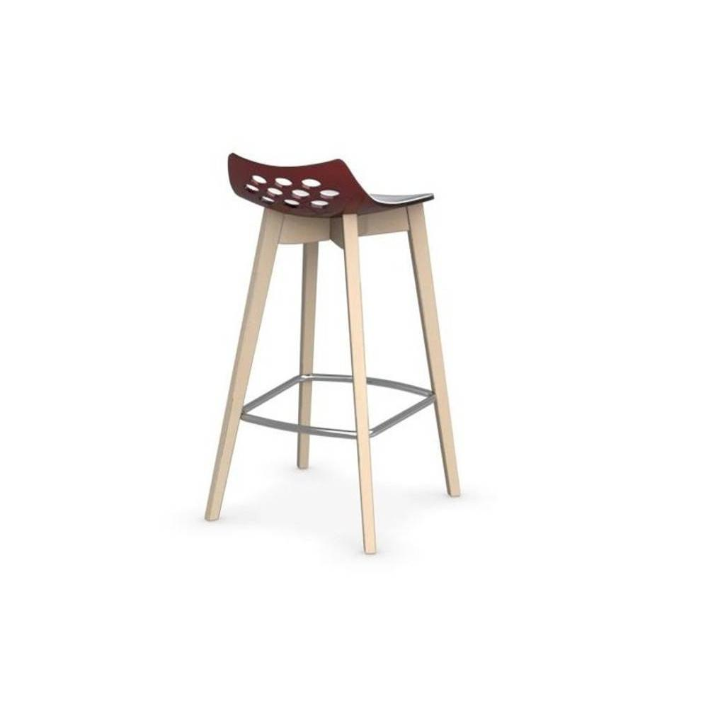tabourets de bar tables et chaises calligaris tabouret de bar jam w rouge transparente avec. Black Bedroom Furniture Sets. Home Design Ideas