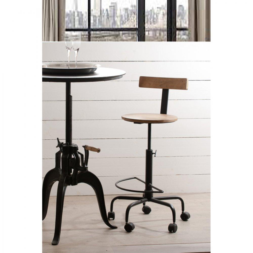 Chaises de bar tables et chaises chaise de bar for Table haute cuisine industrielle