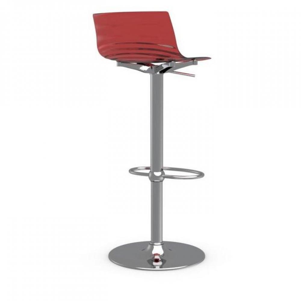 Tabourets de bar tables et chaises chaise de bar design l 39 eau de calligaris en plexiglas rouge for Chaise de bar rouge