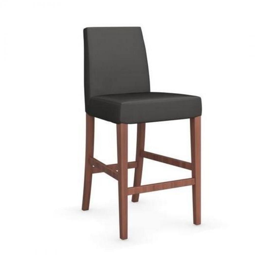 , tables et chaises, CALLIGARIS Chaise de bar LATINA piétement noyer