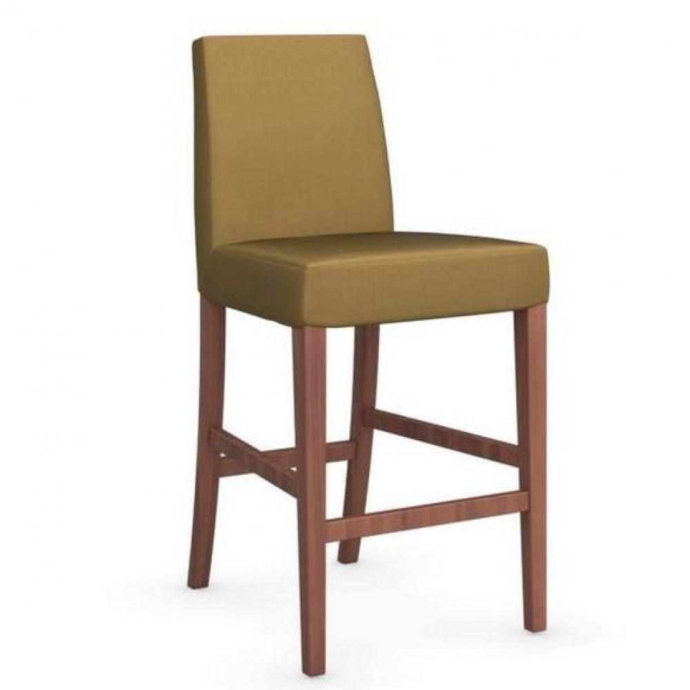 chaises tables et chaises calligaris chaise de bar latina pi tement noyer assise tissu jaune. Black Bedroom Furniture Sets. Home Design Ideas