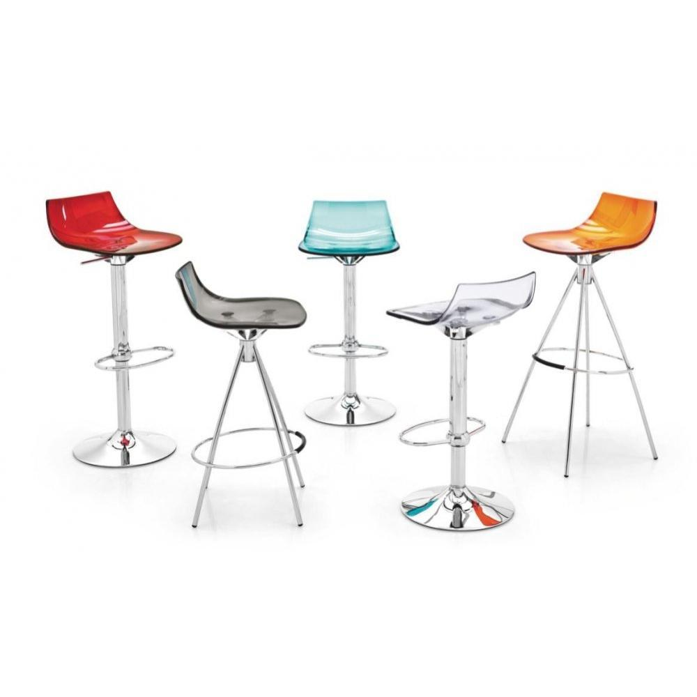 tabourets de bar tables et chaises tabouret de bar design l 39 eau de calligaris en plexiglas. Black Bedroom Furniture Sets. Home Design Ideas