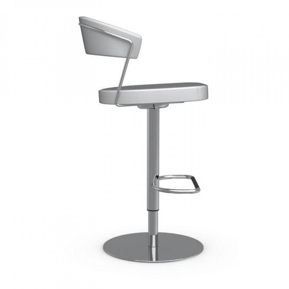 tabourets de bar tables et chaises calligaris chaise de bar new york design en cuir blanc. Black Bedroom Furniture Sets. Home Design Ideas