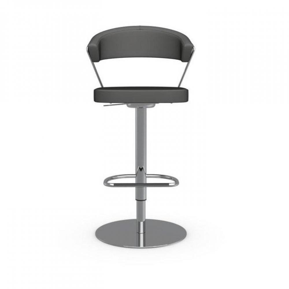 chaises de bar tables et chaises calligaris chaise de bar new york design en cuir gr ge inside75. Black Bedroom Furniture Sets. Home Design Ideas