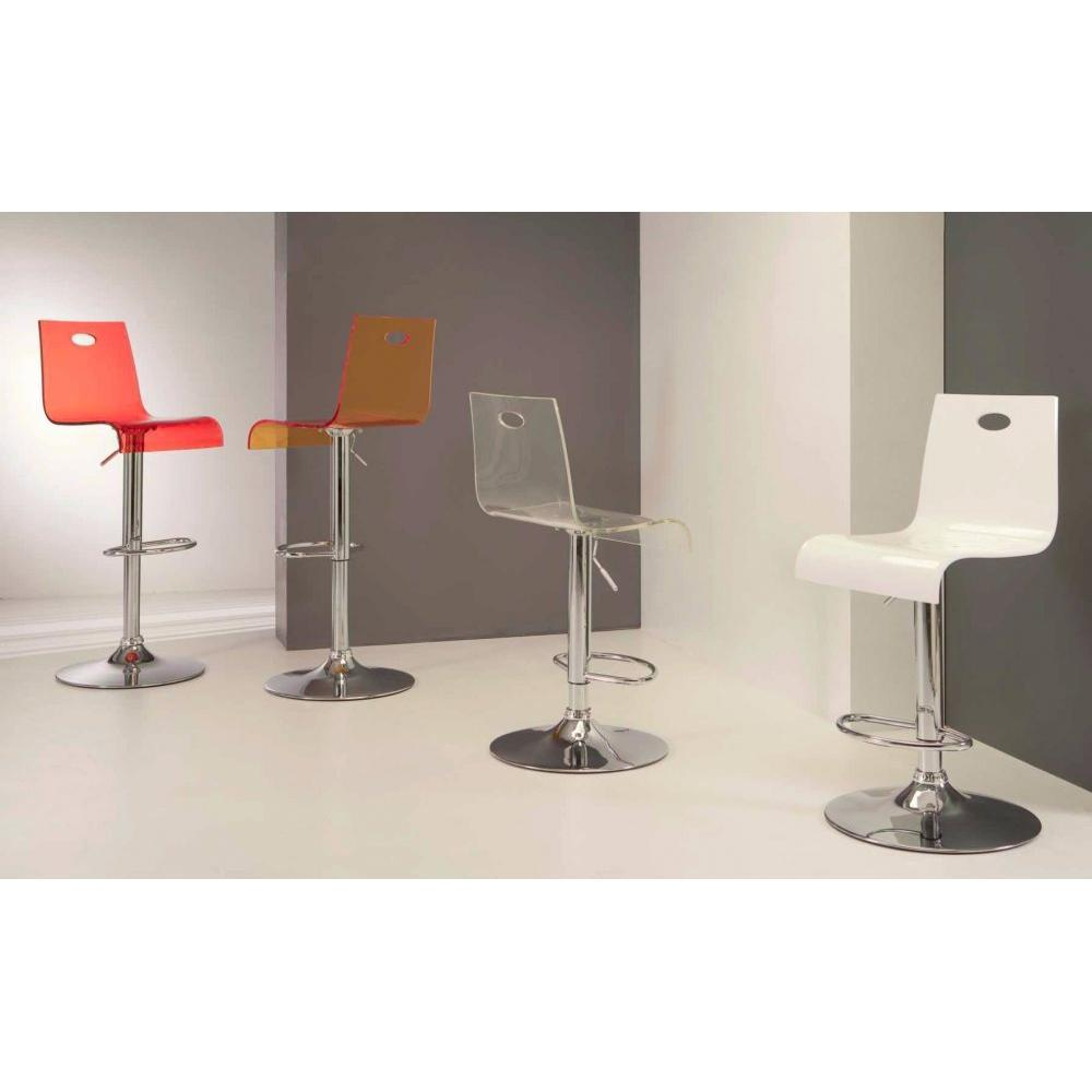Chaises de bar tables et chaises chaise de bar virtual stool design transparente rouge inside75 for Chaise de bar ajustable