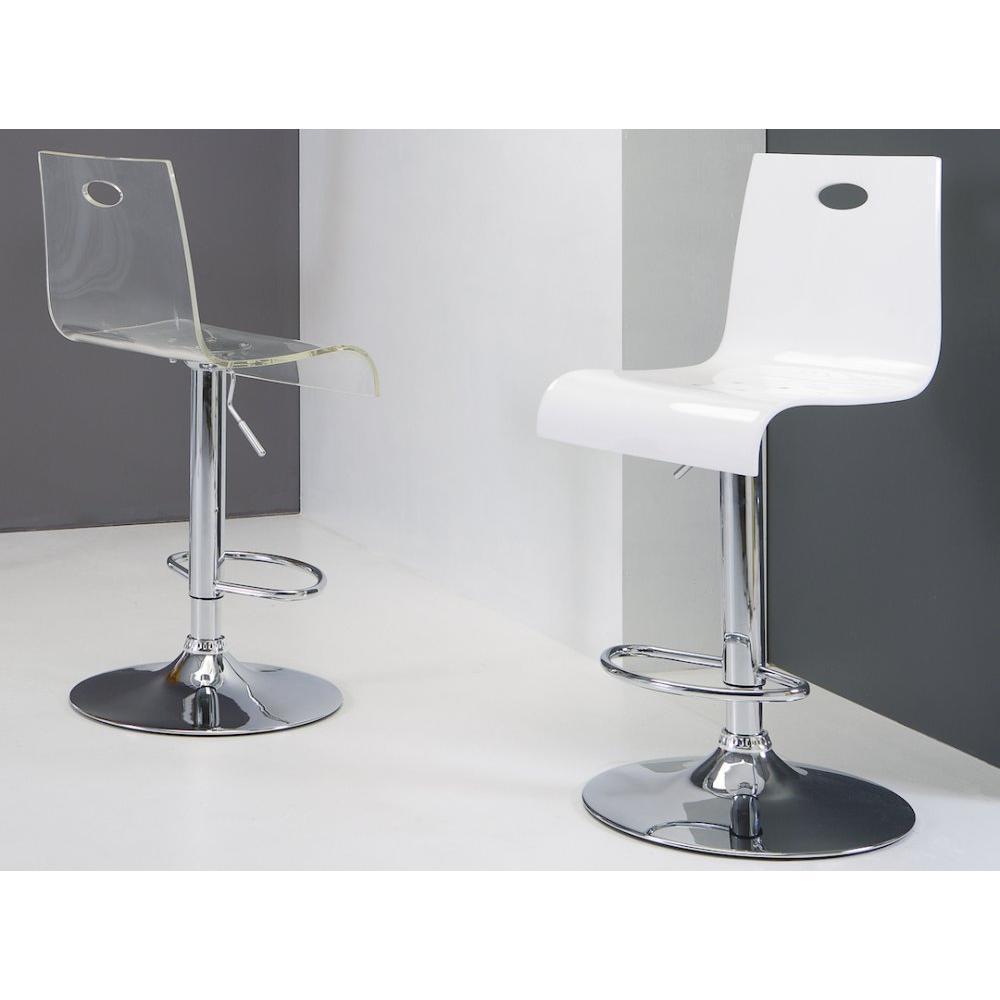 Chaises de bar tables et chaises chaise de bar virtual for Table et chaise transparente