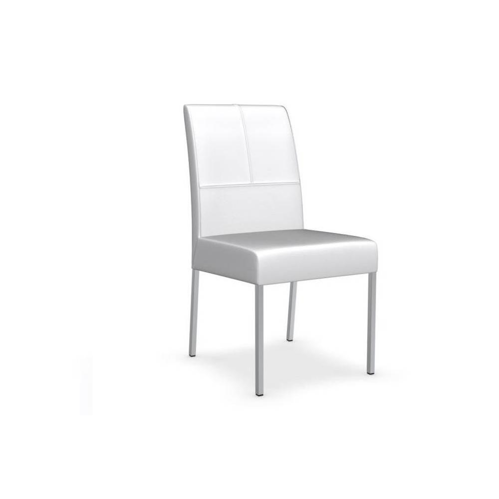 Chaises tables et chaises calligaris chaise berliner for Chaise cuir blanc