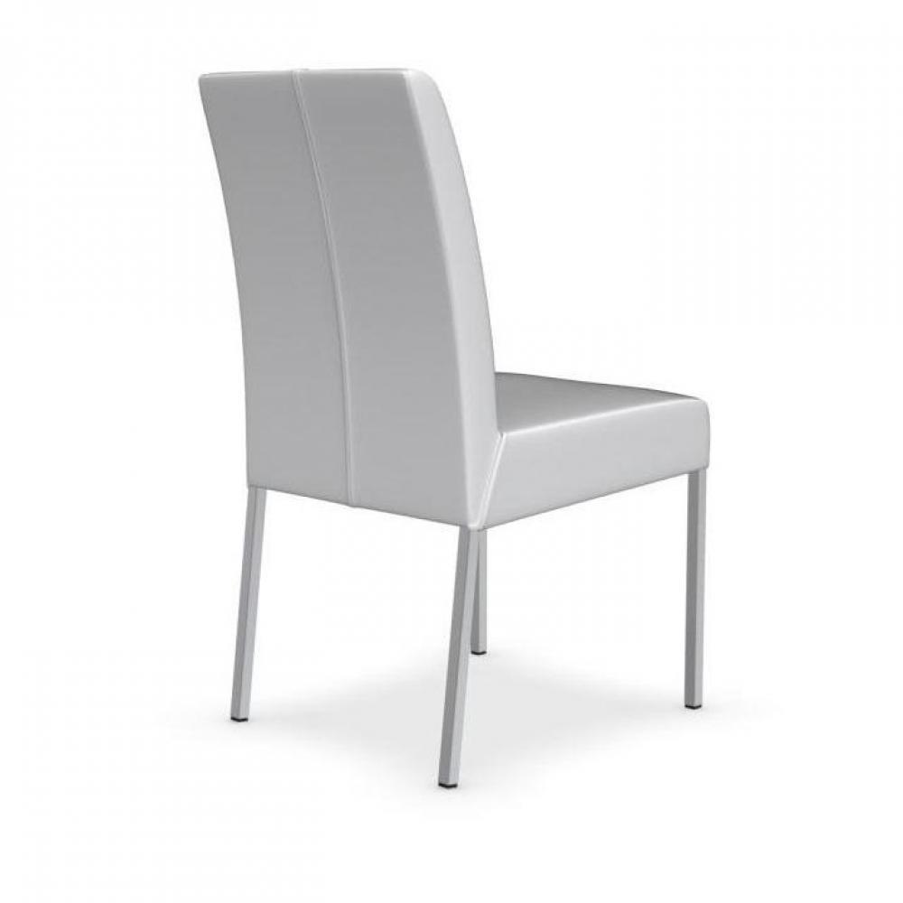 Chaises tables et chaises calligaris chaise berliner haut de gamme en cuir - Chaise en cuir blanc ...