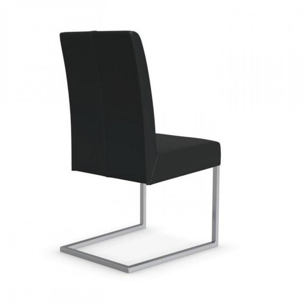 Chaises tables et chaises calligaris chaise berliner haut de gamme en cuir - Chaise design cuir noir ...