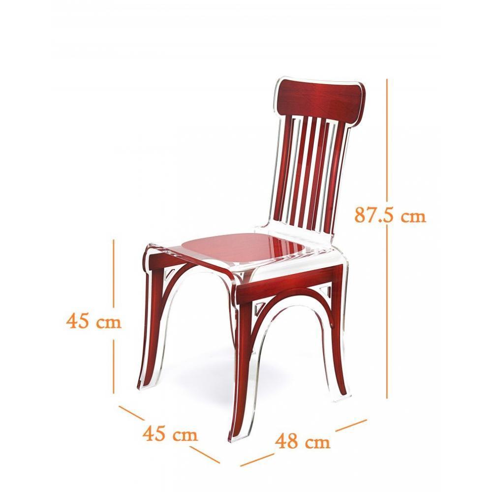 chaises tables et chaises bistro chaise en plexi rouge par acrila inside75. Black Bedroom Furniture Sets. Home Design Ideas
