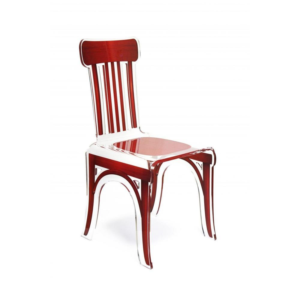Chaise plexi rouge for Chaise rouge