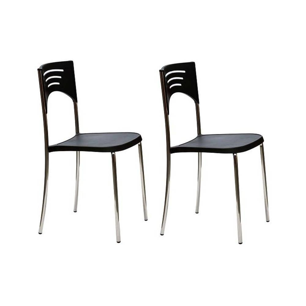 Chaises tables et chaises lot de 2 chaises break design for Chaise noir design