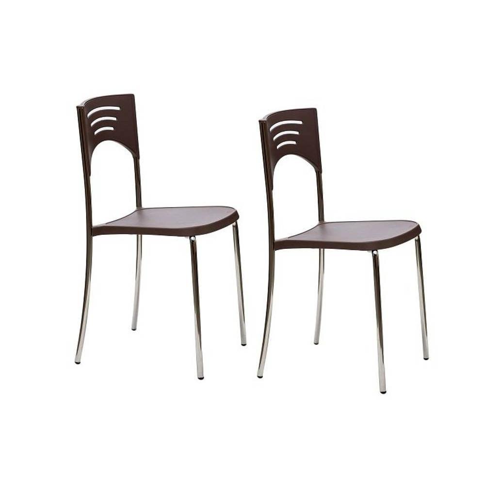 chaises tables et chaises lot de 2 chaises break design noisette inside75. Black Bedroom Furniture Sets. Home Design Ideas