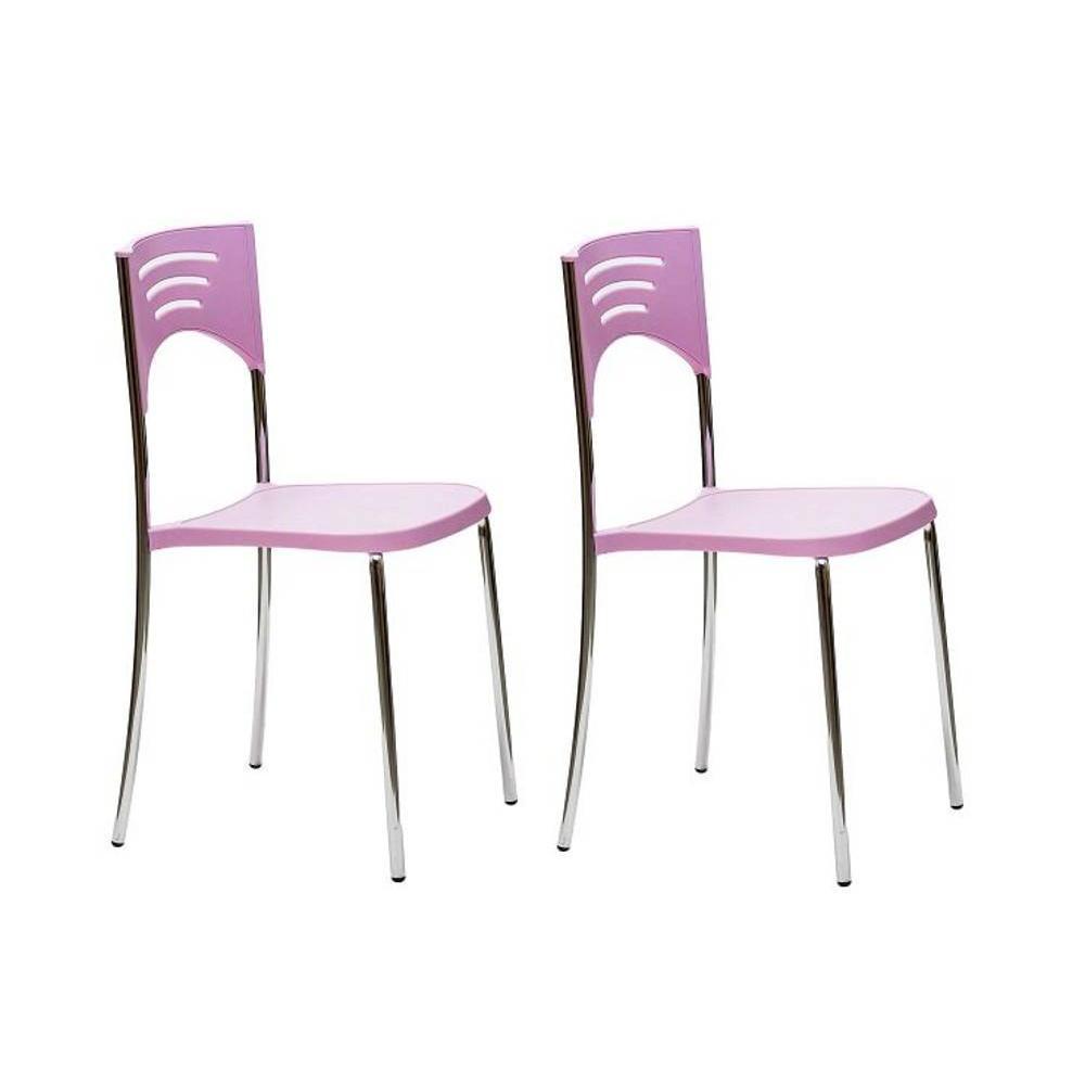 Chaises tables et chaises lot de 2 chaises break design for Chaise design rose