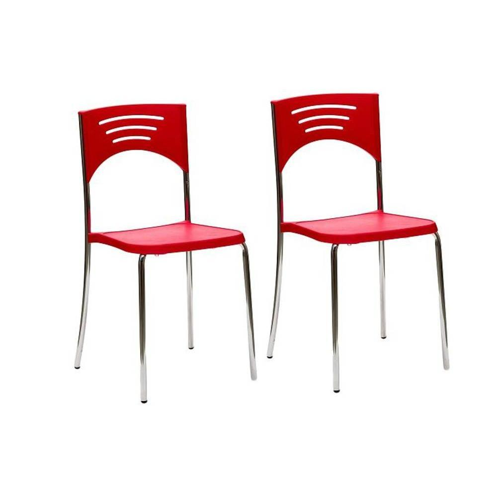 chaises tables et chaises lot de 2 chaises break design