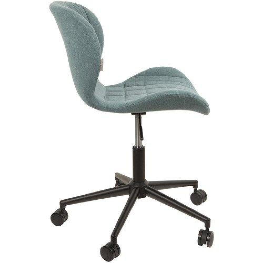 chaises tables et chaises zuiver chaise de bureau omg bleu avec pi tement noir inside75. Black Bedroom Furniture Sets. Home Design Ideas