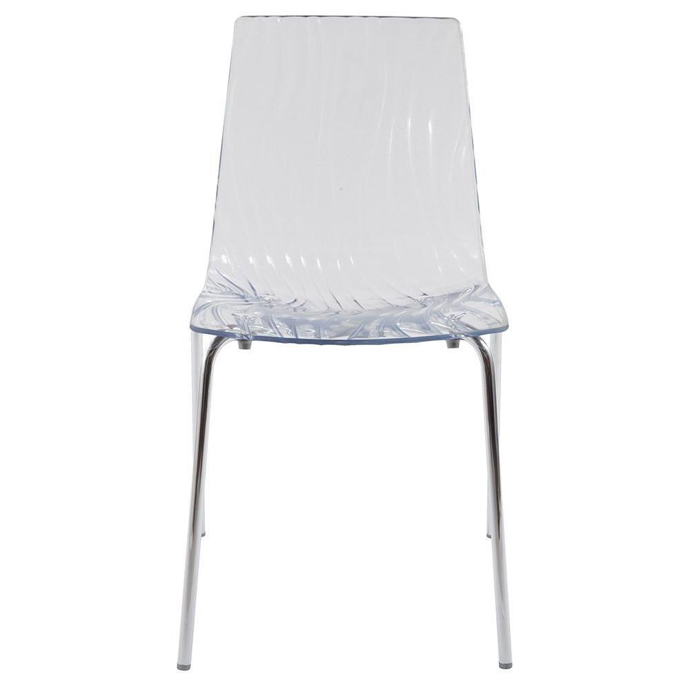 chaises tables et chaises lot de 2 chaises calima empilable design transparente inside75. Black Bedroom Furniture Sets. Home Design Ideas