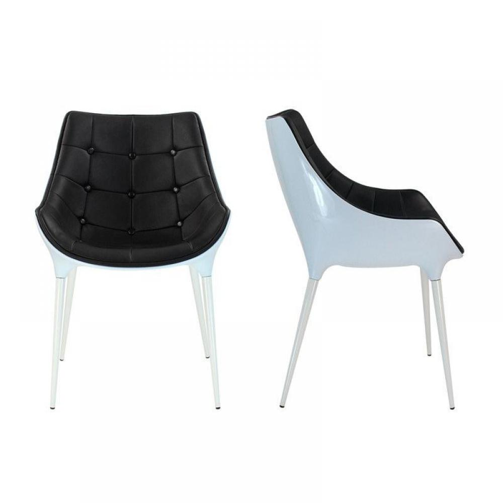 Chaises tables et chaises lot de 2 chaises golf birdy - Chaise noire et blanche ...