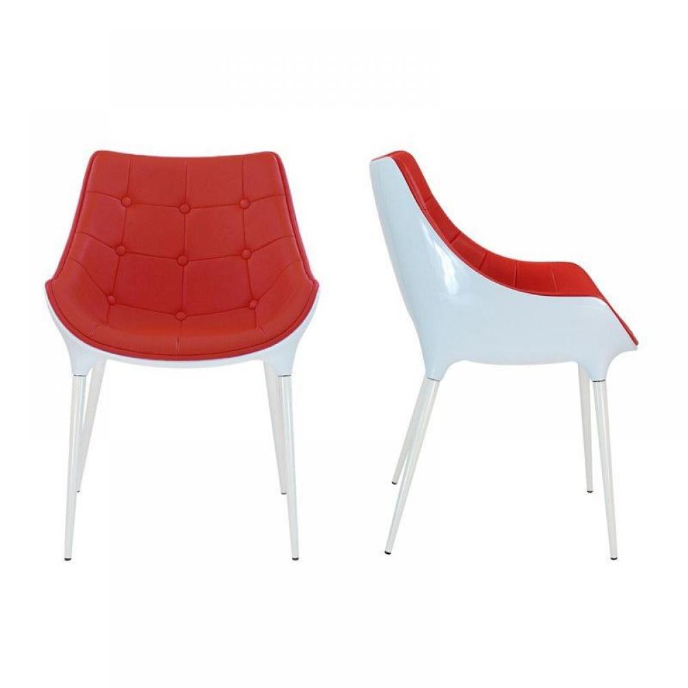 Chaise plastique rouge maison design for Chaise design rouge