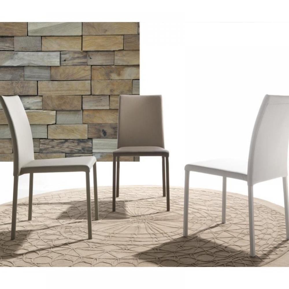 chaises tables et chaises chaise cloe en tissu enduit polyur thane simili fa on cuir taupe. Black Bedroom Furniture Sets. Home Design Ideas