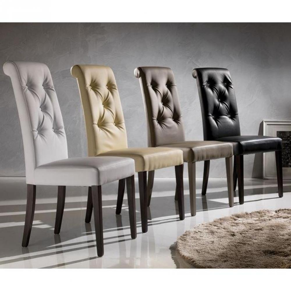 Chaises tables et chaises chaise billionaire en tissu enduit polyur thane s - Chaises simili cuir blanc ...