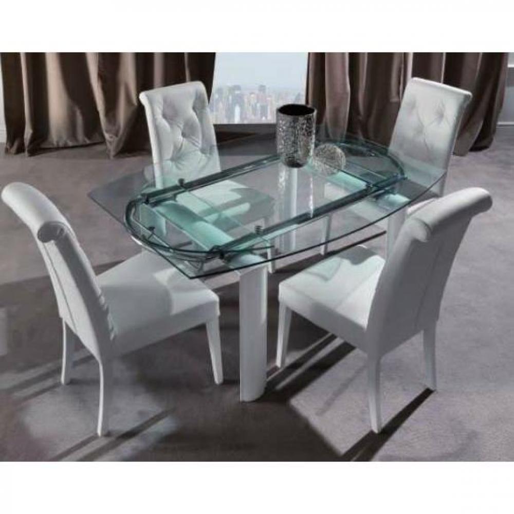 Chaises tables et chaises chaise billionaire en tissu enduit polyur thane s - Chaise en cuir blanc ...