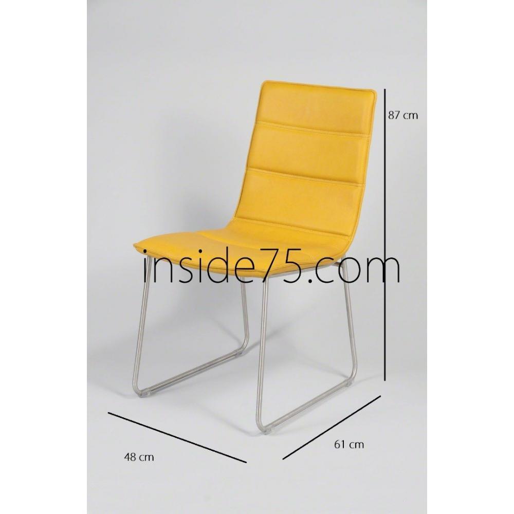 Chaises tables et chaises chaises design dodge en tissu - Chaise de bureau jaune ...