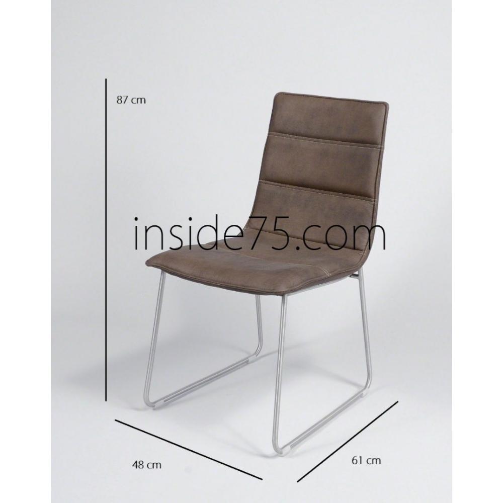 Tables relevables tables et chaises chaises design dodge for Chaises simili cuir marron