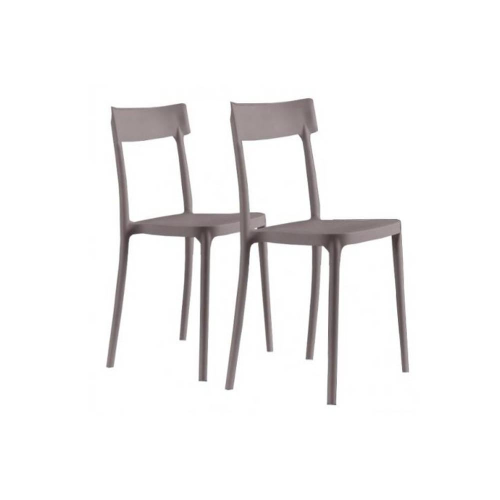 Chaises tables et chaises lot de 2 chaises corsocomo for Chaises empilables