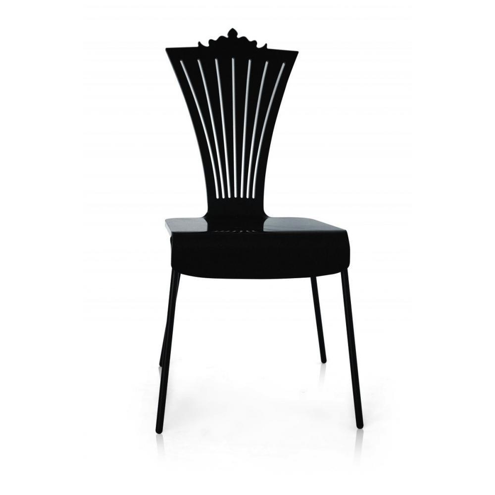 chaises meubles et rangements chaise de jardin en plexi noire par acrila. Black Bedroom Furniture Sets. Home Design Ideas