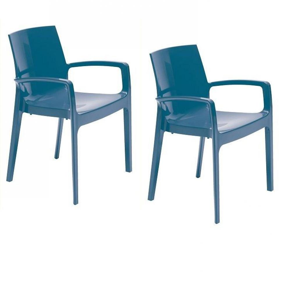 Chaises tables et chaises lot de 2 chaises cream empilable design bleu in - Chaises empilables design ...