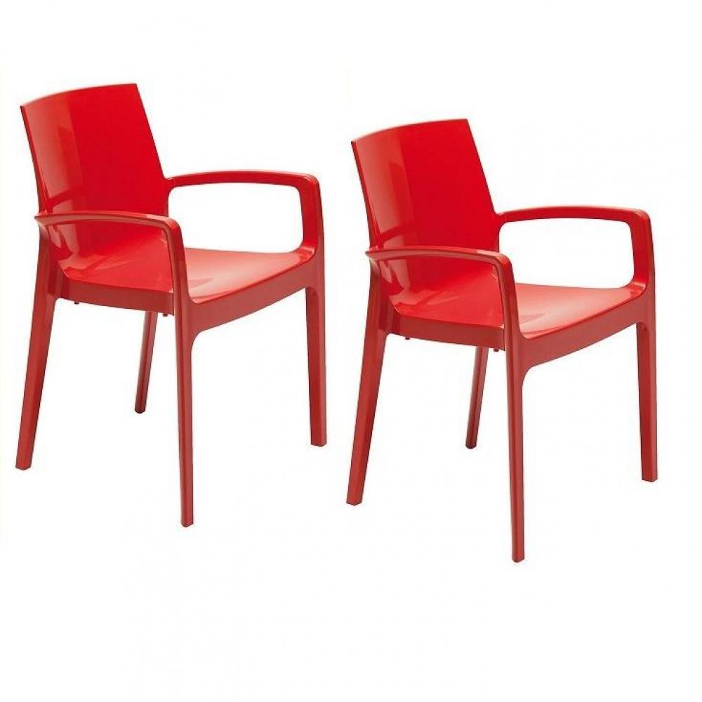 Chaises tables et chaises lot de 2 chaises cream for Chaise design rouge