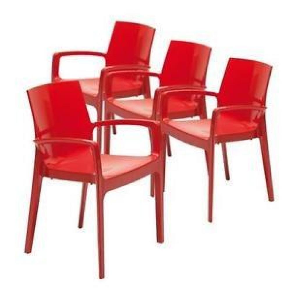 chaises tables et chaises lot de 2 chaises cream empilable design rouge inside75. Black Bedroom Furniture Sets. Home Design Ideas