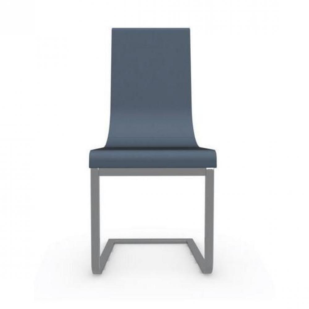 chaises tables et chaises calligaris cruiser chaise haut de gamme assise cuir bleu inside75. Black Bedroom Furniture Sets. Home Design Ideas