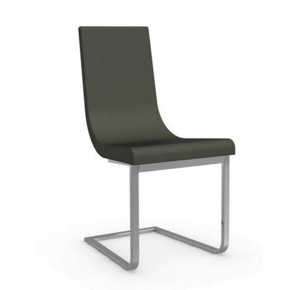 chaises tables et chaises calligaris cruiser chaise haut de gamme assise cuir vert inside75. Black Bedroom Furniture Sets. Home Design Ideas