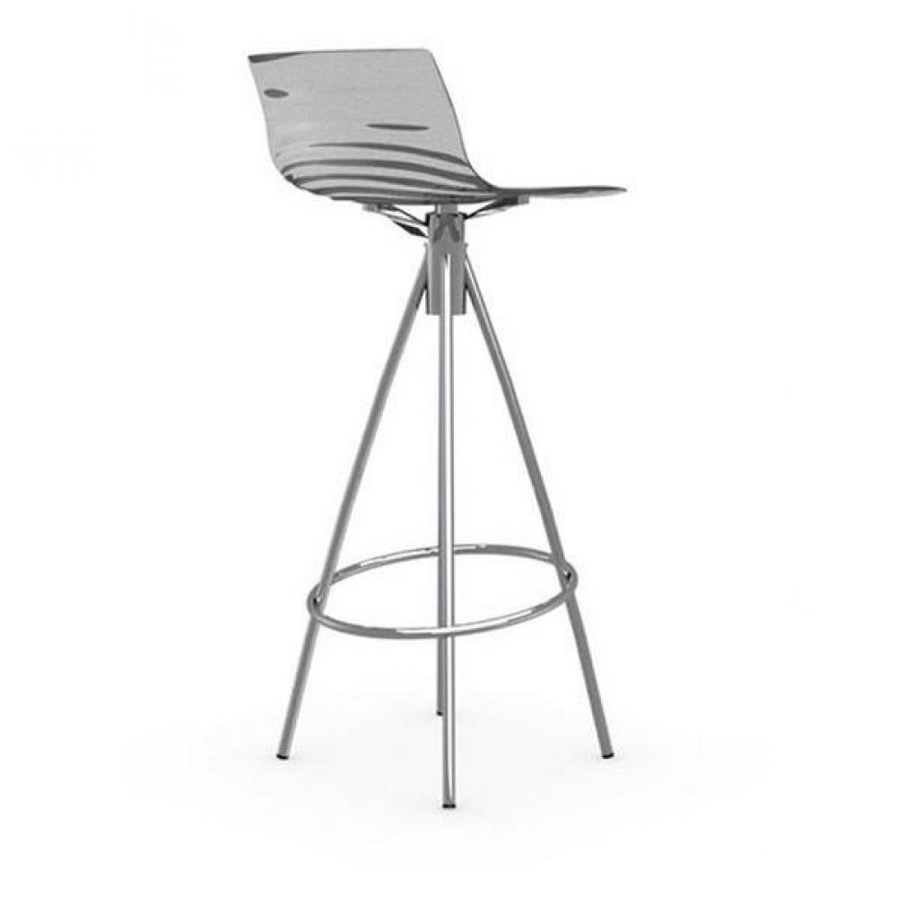 chaises tables et chaises calligaris calligaris chaise de bar design l 39 eau grise fum e. Black Bedroom Furniture Sets. Home Design Ideas