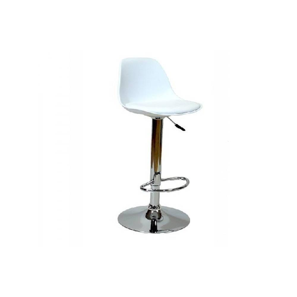 Chaises de bar tables et chaises chaise de bar fruit design blanche inside75 for Chaise de bar ajustable