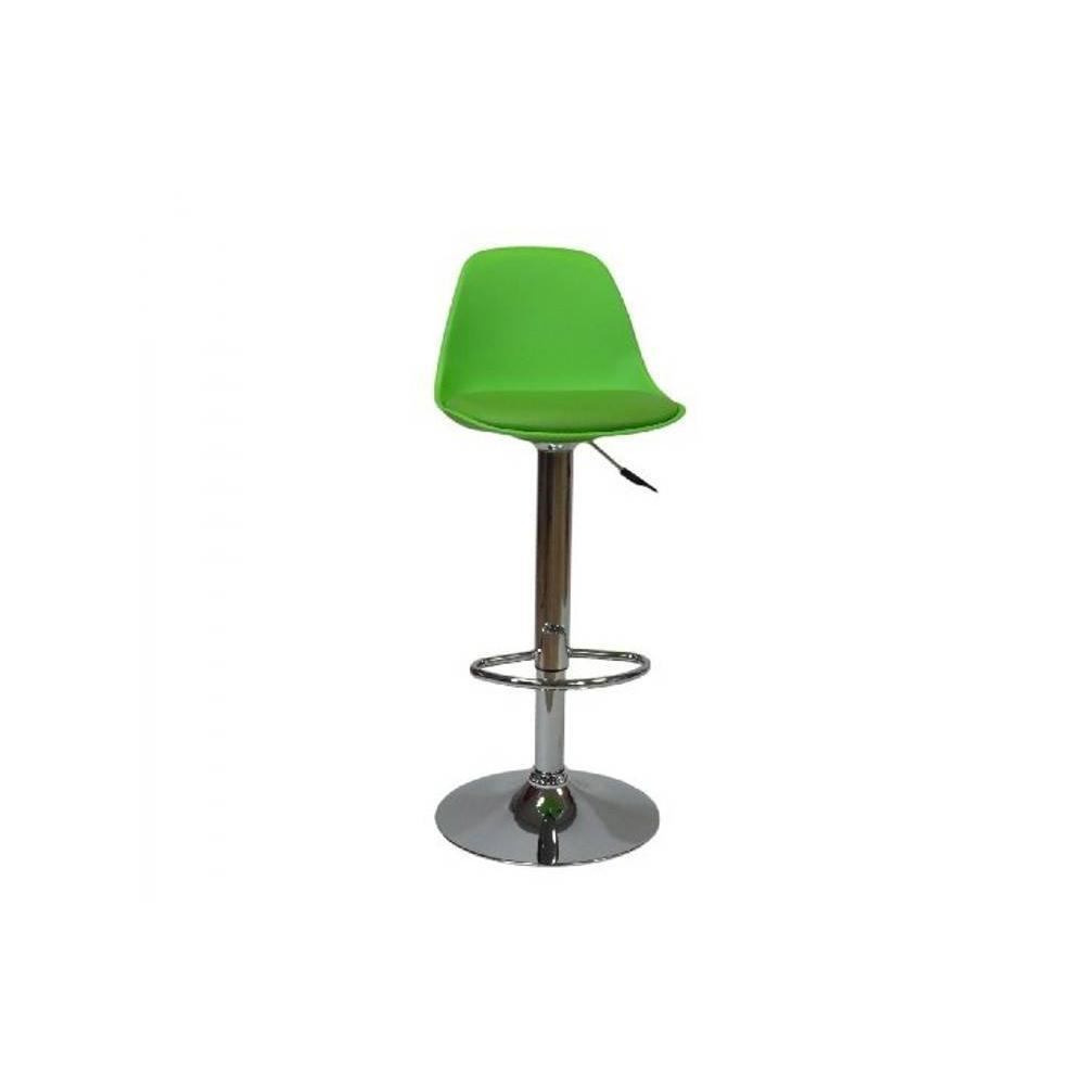 Chaises de bar tables et chaises chaise de bar fruit design verte inside75 for Chaise de bar ajustable