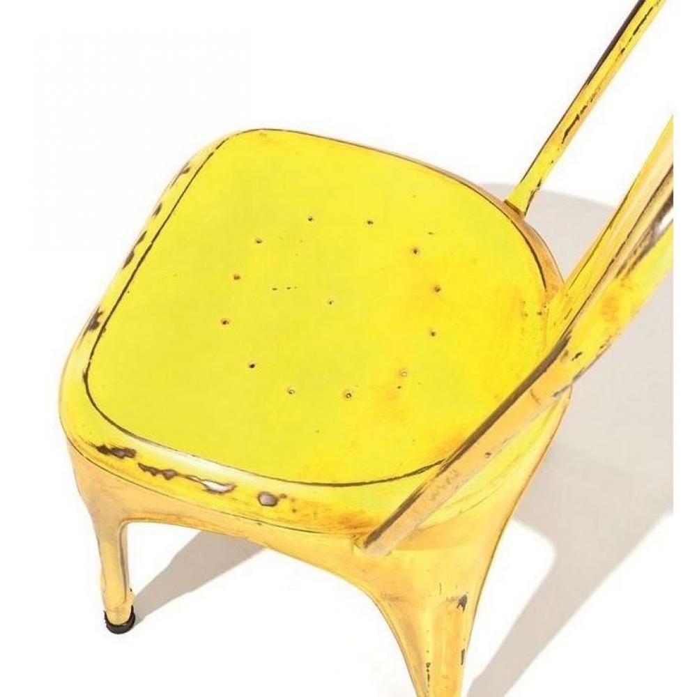 chaises tables et chaises lot de 4 chaises design aix en acier. Black Bedroom Furniture Sets. Home Design Ideas
