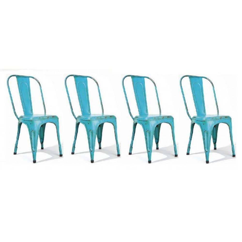 Chaises tables et chaises lot de 4 chaises design aix - Lot de 4 chaises design ...