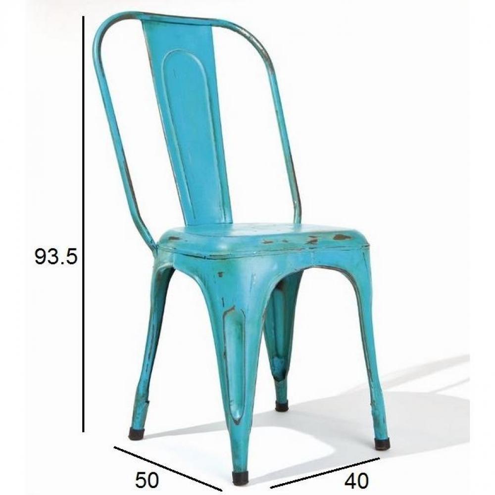 chaises tables et chaises lot de 4 chaises design aix turkis en acier bleu turquoise inside75. Black Bedroom Furniture Sets. Home Design Ideas