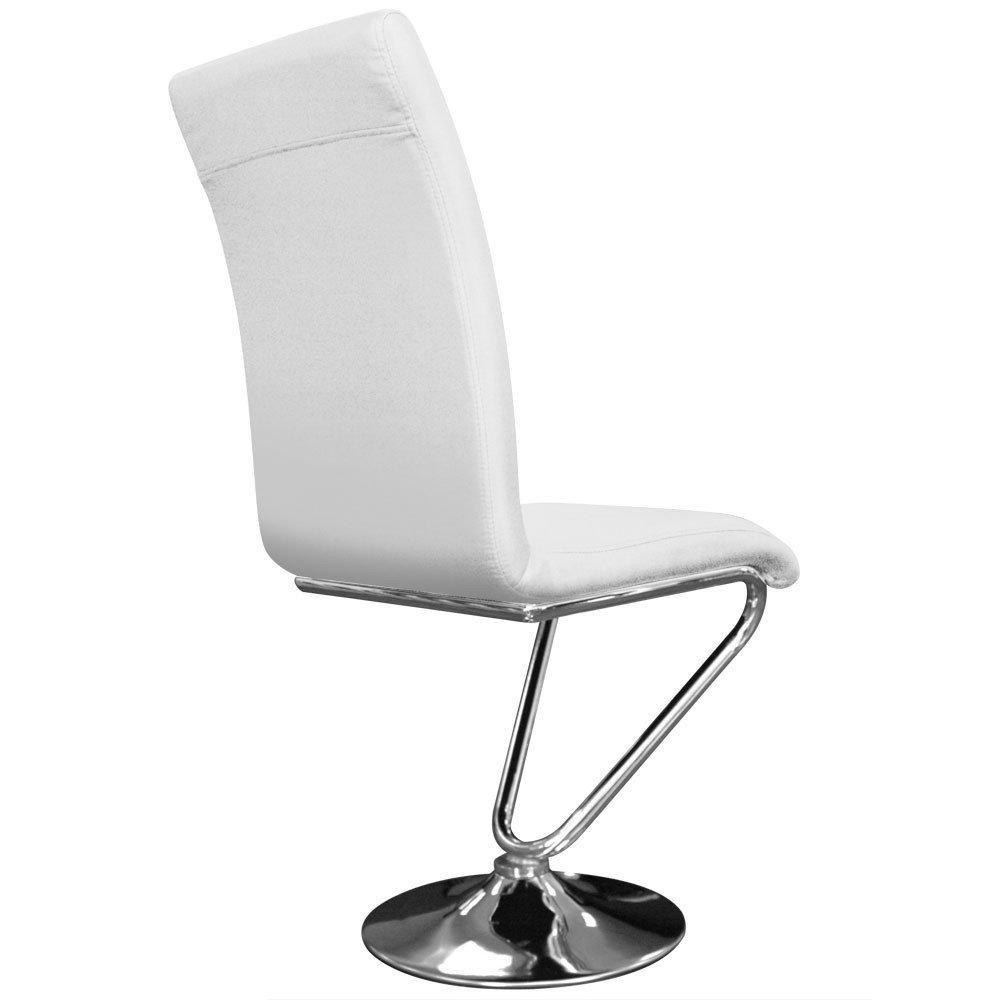 Chaises tables et chaises lot de 6 chaises bibi en simili cuir blanc insi - Chaise en cuir blanc ...