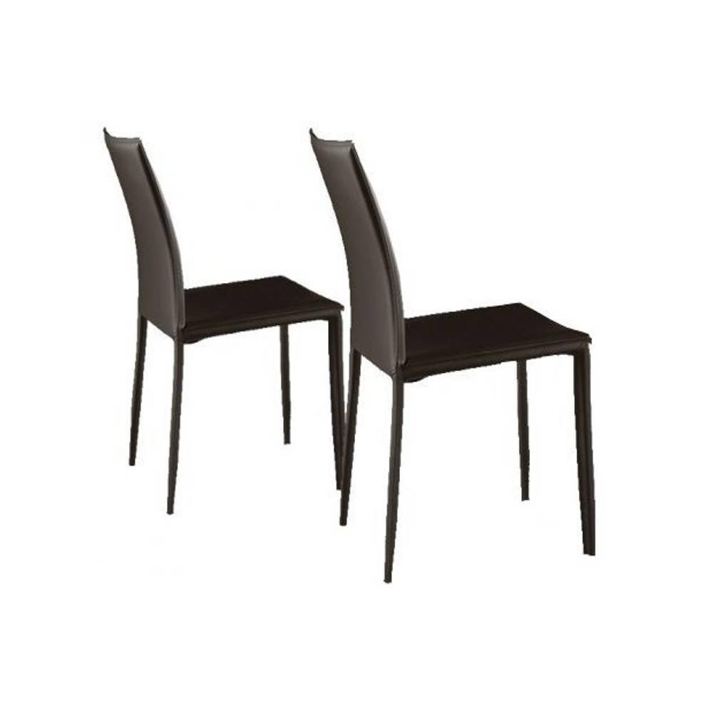 Mobilier table septembre 2014 - Chaises cuir marron ...