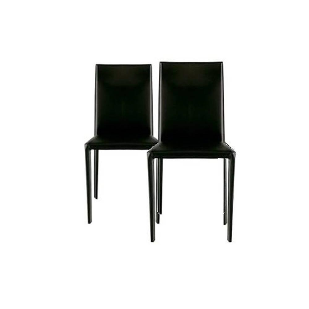 chaises simili cuir noir maison design. Black Bedroom Furniture Sets. Home Design Ideas