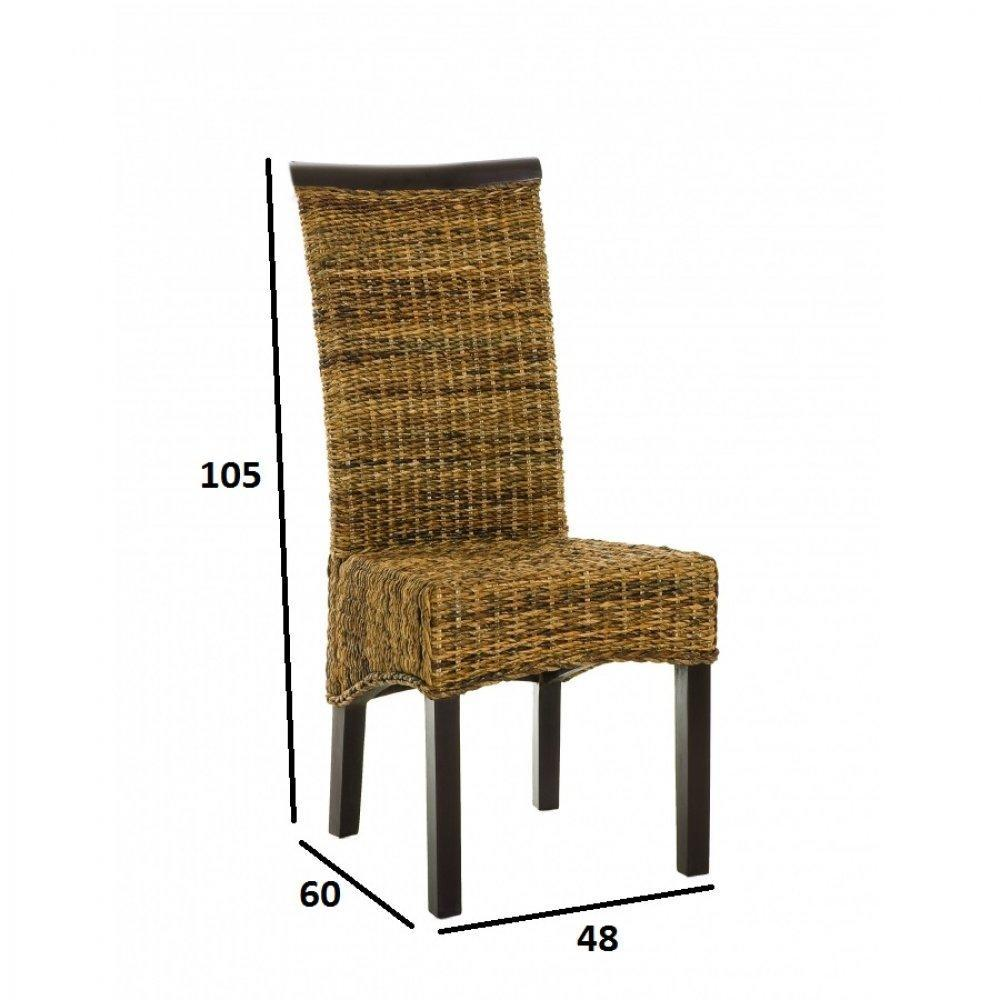 chaises tables et chaises chaise style colonial lauren lorine en bananier inside75. Black Bedroom Furniture Sets. Home Design Ideas
