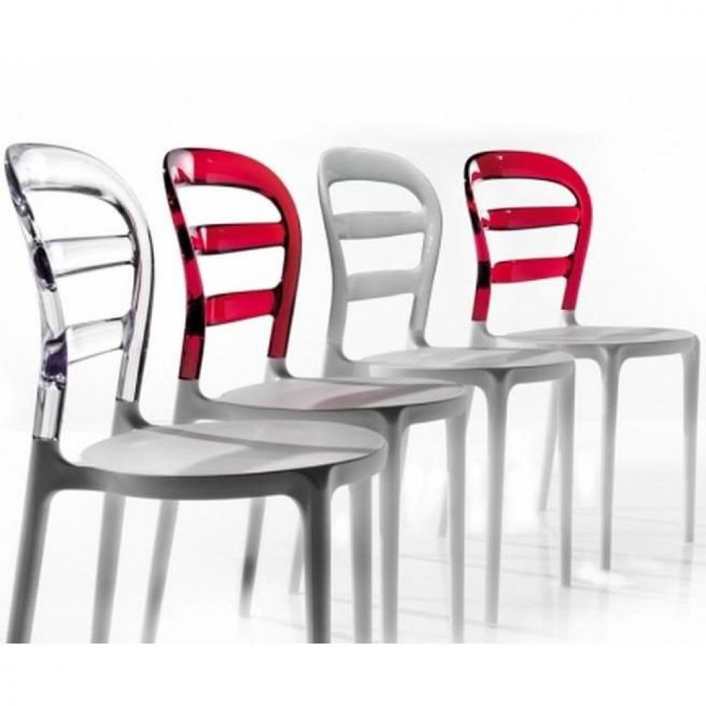 Chaises tables et chaises lot de 2 chaises design dejavu for Chaise en plexiglass