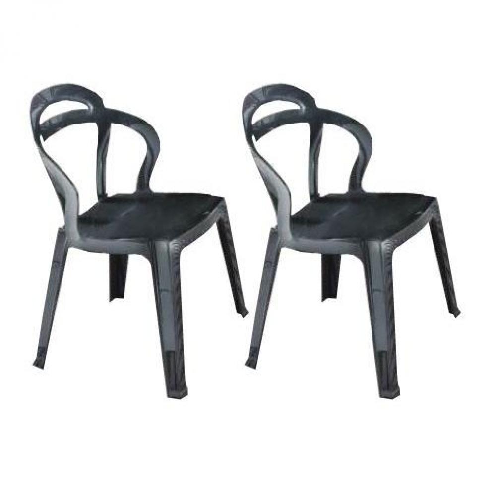 Chaises tables et chaises lot de 2 chaises design for Chaise empilable design